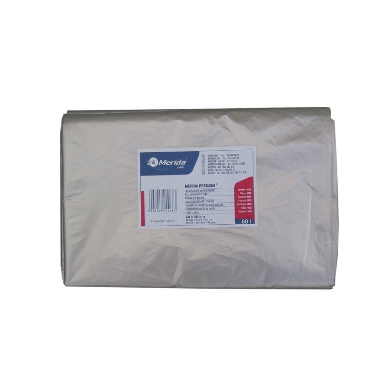 Merida Pytle na odpadky LDPE, 38 mi, 70x110cm,120 l,čiré 50 ks/b