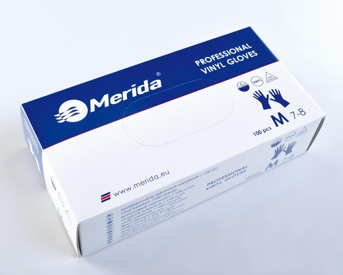 Merida Rukavice vinylové L, 100 ks/balení