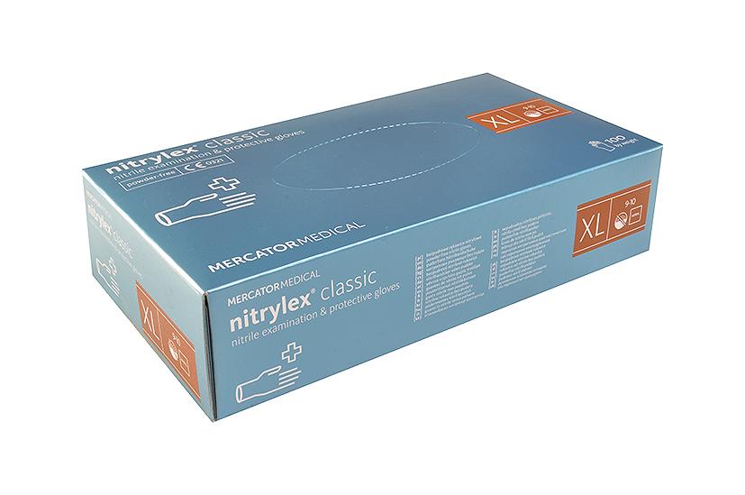 Merida Rukavice nitrilové velikost XL, 100 ks / bal.