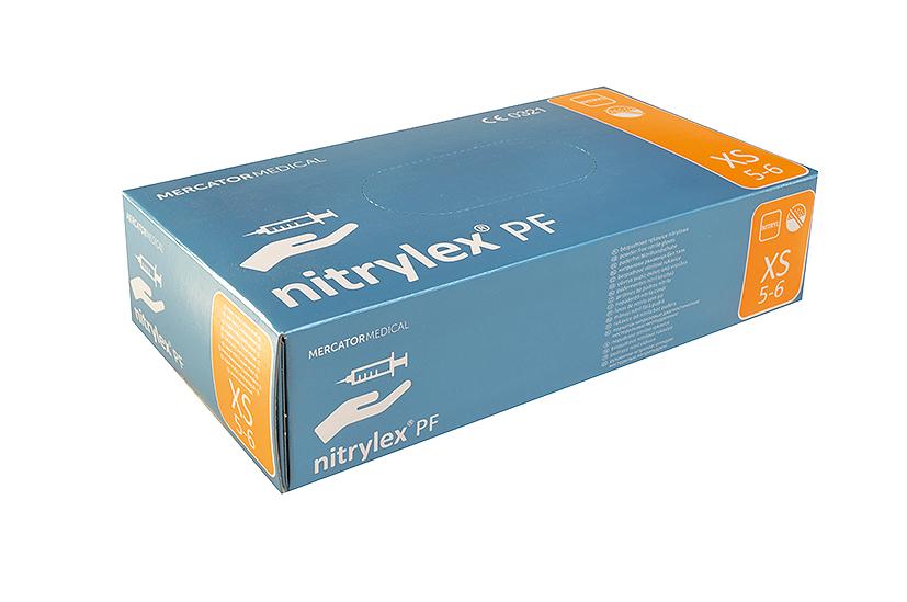 Merida Rukavice nitrilové velikost XS, 100 ks / bal.