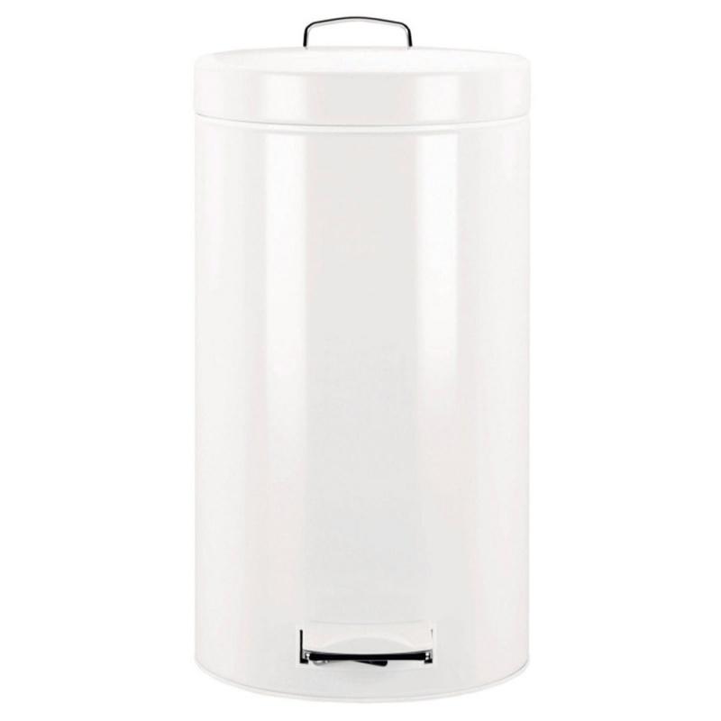 Merida Odpadkový koš nášlapný kovový bílý 30 l