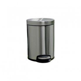 Merida Odpadkový koš s pedálem SILENT, kovový, matový, 5 l
