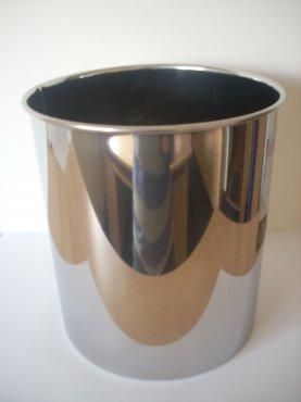 Odpadkový koš kovový lesklý 5 l