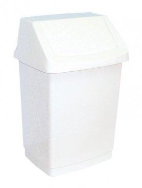 Merida Odpadkový koš s víkem hranatý plastový bílý 25 l