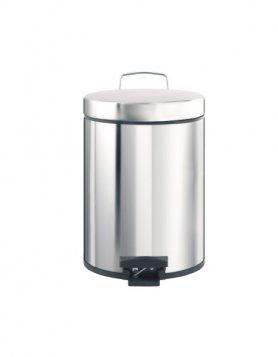 Merida Odpadkový koš nášlapný kovový nerez lesk 5 l