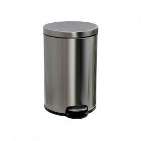 Merida Odpadkový koš s pedálem SILENT, kovový, matový, 12 l