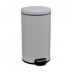 Merida Odpadkový koš s pedálem SILENT, kovový, bílý, 30 l