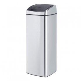 Merida Odpadkový kovový koš s víkem Touch Bin 25 l nerez lesk