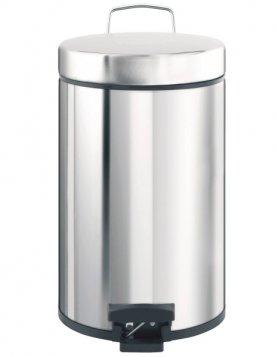 Merida Odpadkový koš nášlapný kovový nerez lesk 30 l