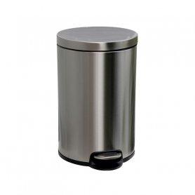 Merida Odpadkový koš s pedálem SILENT, kovový, matový, 20 l