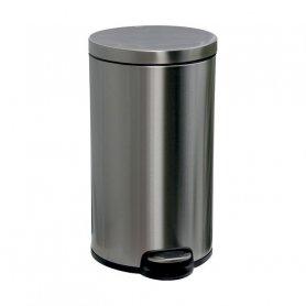 Merida Odpadkový koš s pedálem SILENT, kovový, matový, 30 l