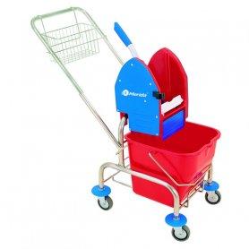 Merida Úklidový vozík jednokbelíkový,pochromovaná konstrukce