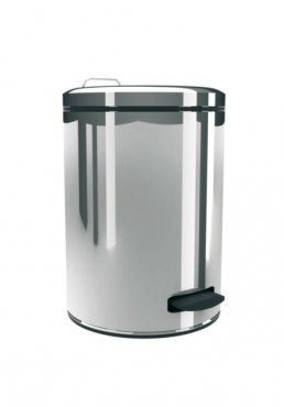 Merida Odpadkový koš nášlapný kovový nerez lesk 12 l