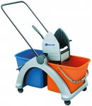 Úklidový vozík Roll-Mop s plastovou konstrukcí